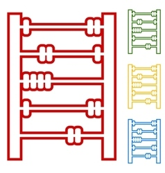 Old retro abacus vector