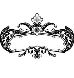 One Color Royal Vintage Curves Banner vector image