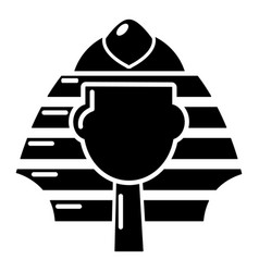pharaoh icon simple black style vector image vector image