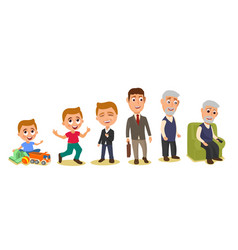 set generations mans different ages from child to vector image vector image