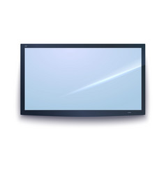 smart tv icon tv screen with the dark frame led vector image vector image