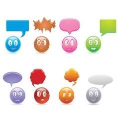 smiley set vector image vector image