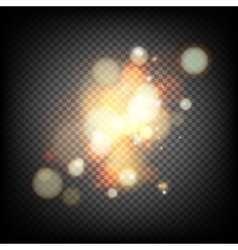 Soft bokeh and lights vector image vector image
