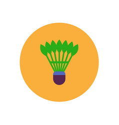 Stylish icon in color circle shuttlecock badminton vector