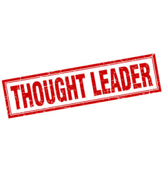 Thought leader square stamp vector