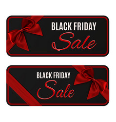 two black friday sale banners isolated on white vector image