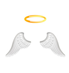 video chat angel wings face selfie effect photo vector image