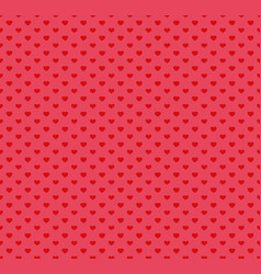 happy valentines day pattern with hearts vector image
