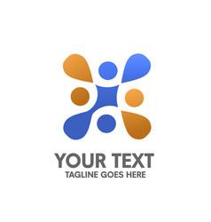 Creative abstract letter x logo vector