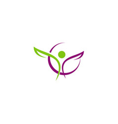people sport beauty abstract logo vector image