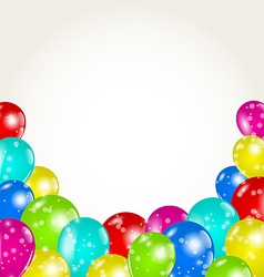 Set colorful balloons for happy birthday vector