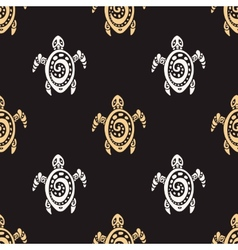 Sea Turtles Seamless pattern vector image