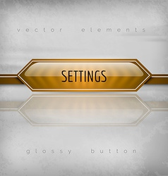 Settings button vector