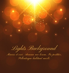 Abstract festive background with bokeh defocused vector image