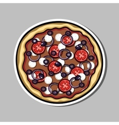 PizzaSticker7 vector image