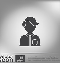 A male or female avatar man or woman avatar sign vector