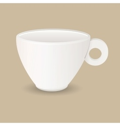 Ceramic coffee cup vector