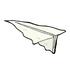 Comic cartoon paper aeroplane vector