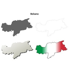 Bolzano blank outline map set - italian version vector