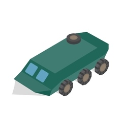 Armoured troop carrier wheeled icon vector