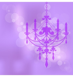 Purple background with chandelier vector