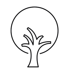 Tree drawing isolated icon design vector