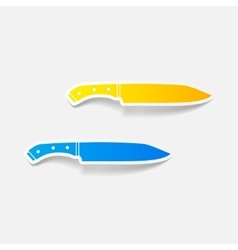 Realistic design element knife vector