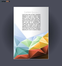 Abstract print A4 design with colored triangles vector image