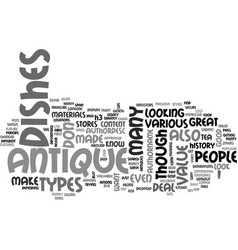 Antique cufflinks text word cloud concept vector