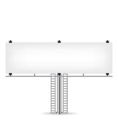 Blank metal billboard vector image vector image