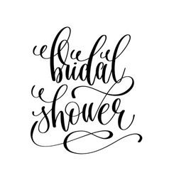 Bridal shower black and white hand lettering vector