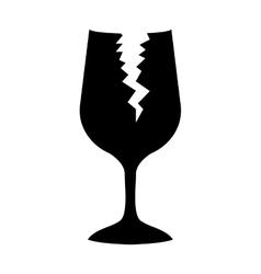 Broken glass icon vector