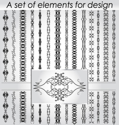 Calligraphic design elements and page decoration vector image vector image