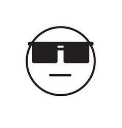 Cartoon face wear sun glasses negative people vector