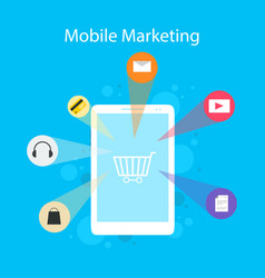 Design style mobile marketing collection vector