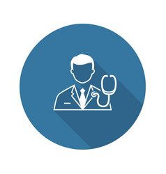 Doctor and medical services icon flat design vector