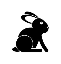 easter bunny cute symbol pictogram vector image