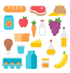 Flat design farm products set vector image vector image