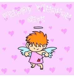 Funny cupid character collection stock vector