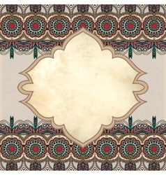 grunge vintage template with ornamental floral vector image vector image