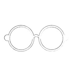 Hippie glasses icon vector