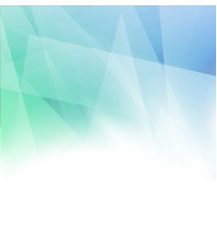 minimalistic abstract geometrical blue green vector image