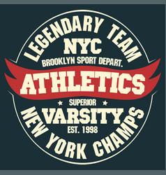 New york t-shirt graphics vector