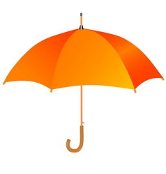orange umbrella icon vector image vector image