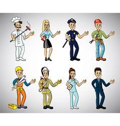 Professions cartoon set vector