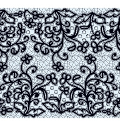 Seamless dark lace pattern vector image