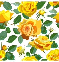 Seamless Floral Background With Yellow Roses vector image vector image