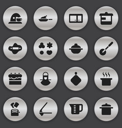 Set of 16 editable food icons includes symbols vector