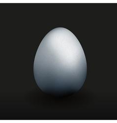 Silver egg vector image