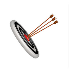 target and three wooden arrows vector image